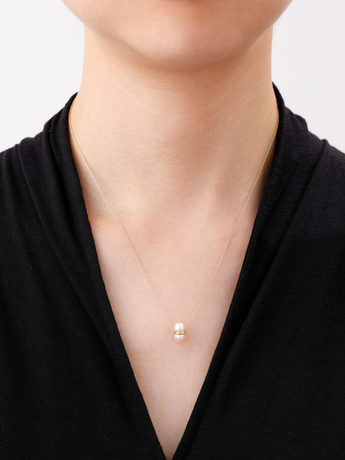 TWIN PEARL NECKLACE M