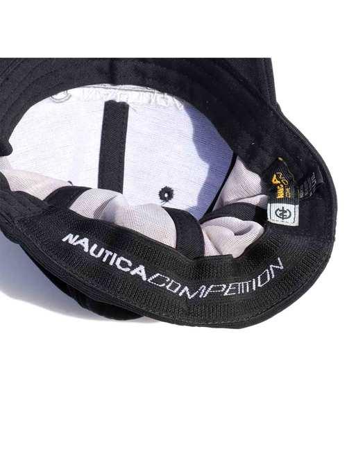 90's~ NAUTICA COMPETITION ブラック 6パネルキャップ [L/XL]