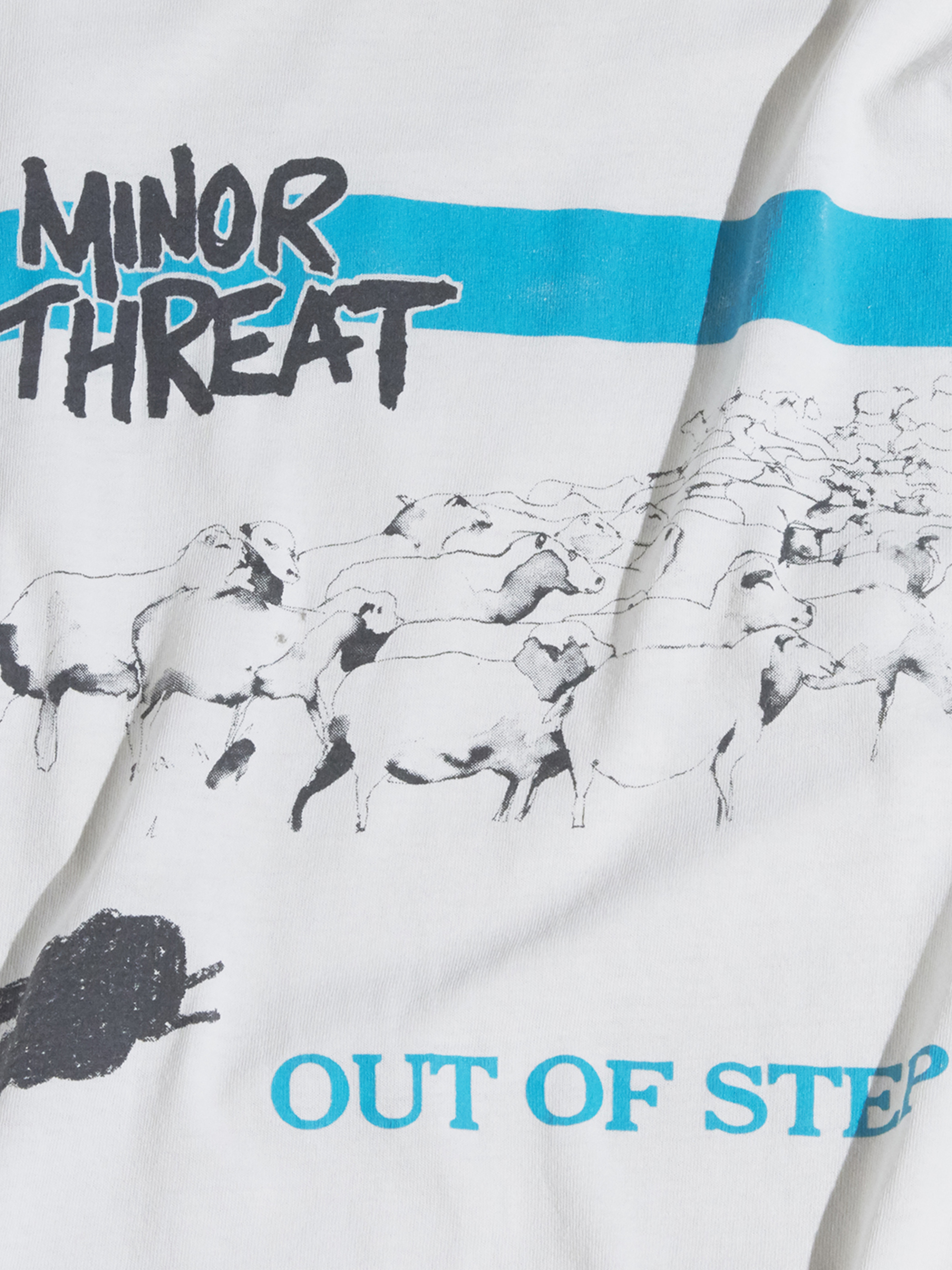 "late 1990s "" MINOR THREAT"" printed tee -WHITE- <SALE¥25000→¥20000>"