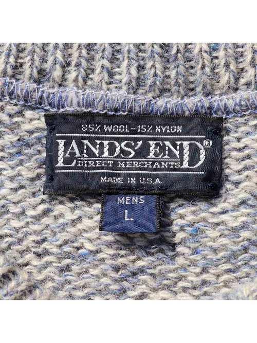90's LANDS' END USA製 ウール/ナイロンニット [L]