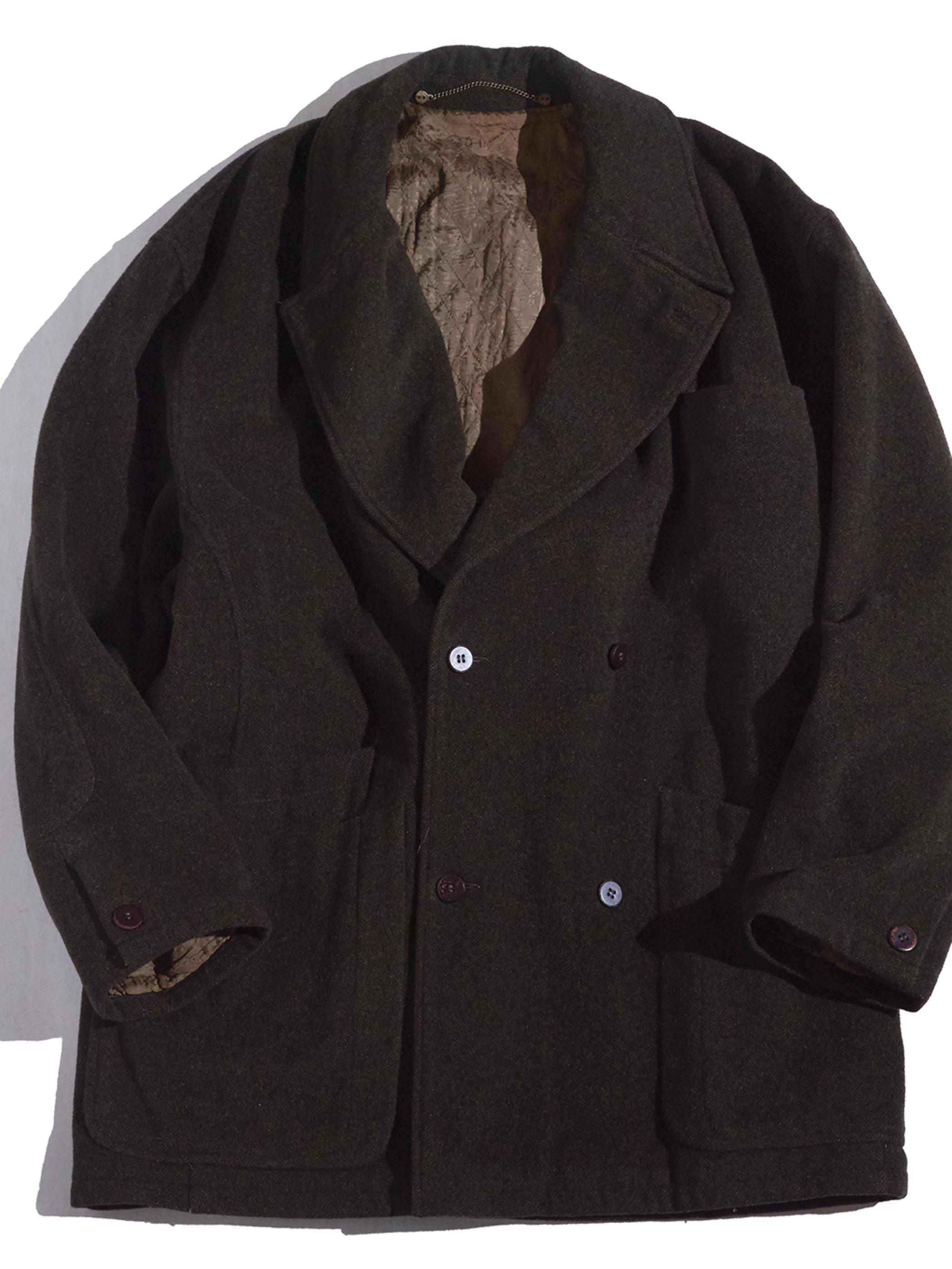 "1980s ""MISSONI UOMO"" wool double jacket -BROWN-"