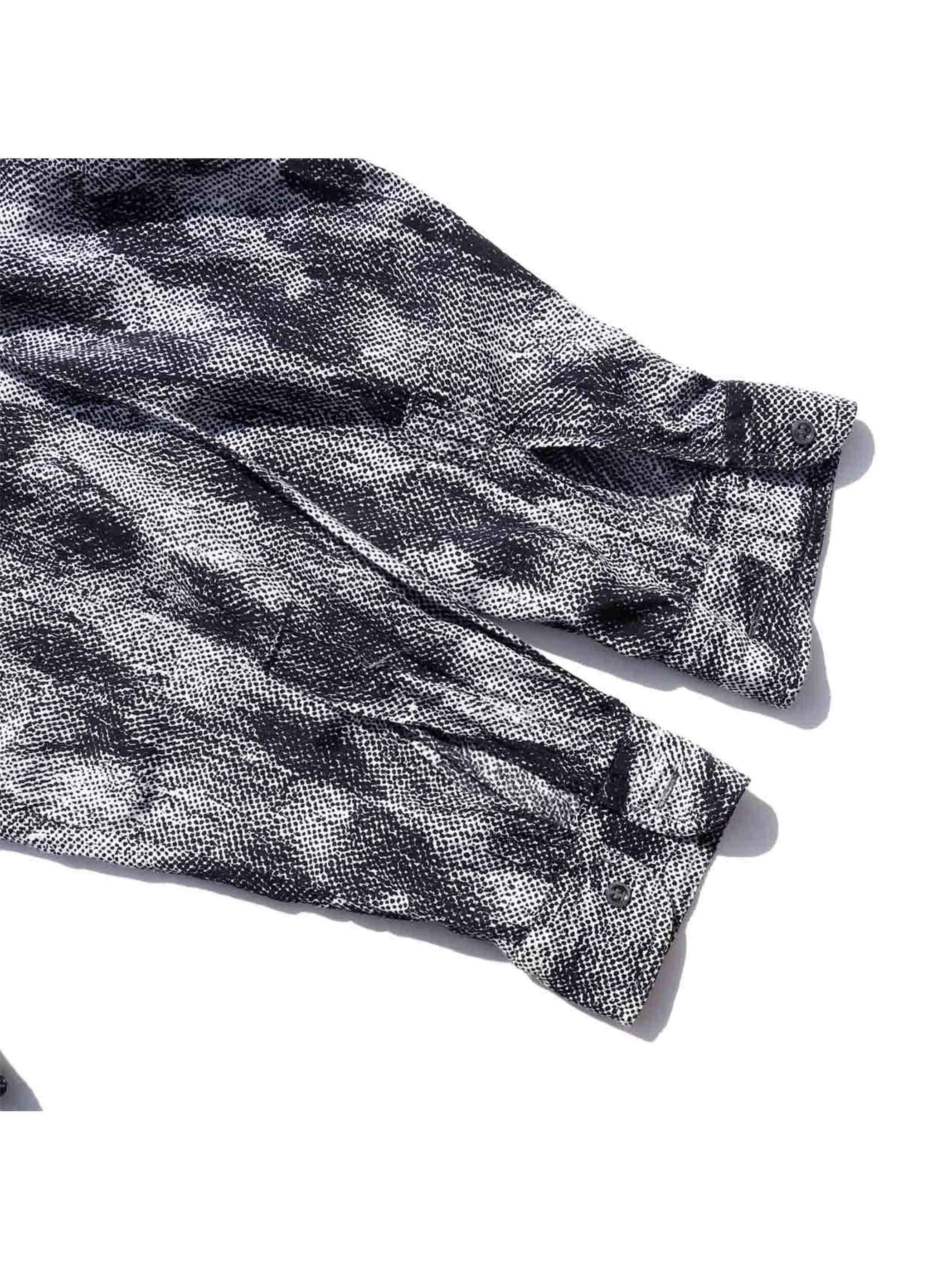 90's~ ONE MESSAGE SHIRT イタリア製 アブストラクトパターン L/Sシャツ [M]