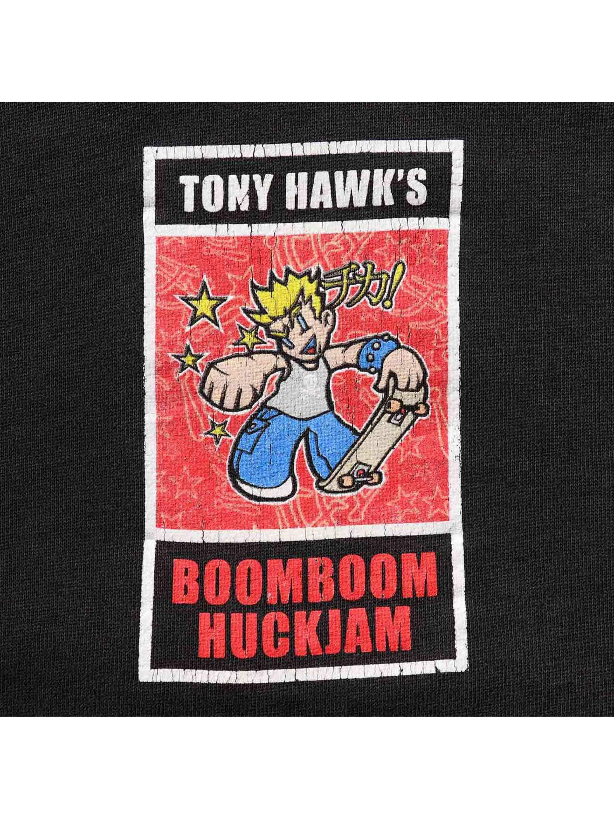"00's QUIKSILVER ""TONY HAWK'S BOOM BOOM HUCKJAM"" プルオーバーパーカー [L]"