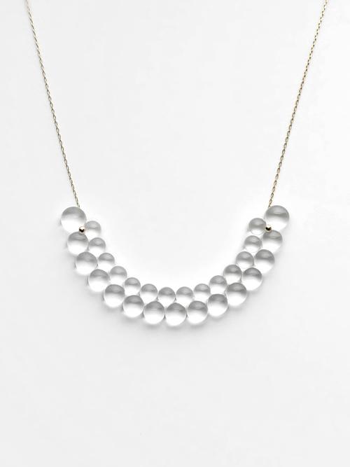 bubun / organ semicircle necklace