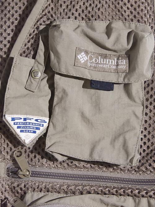"2000s ""Columbia"" PFG fishing vest -BEIGE-"