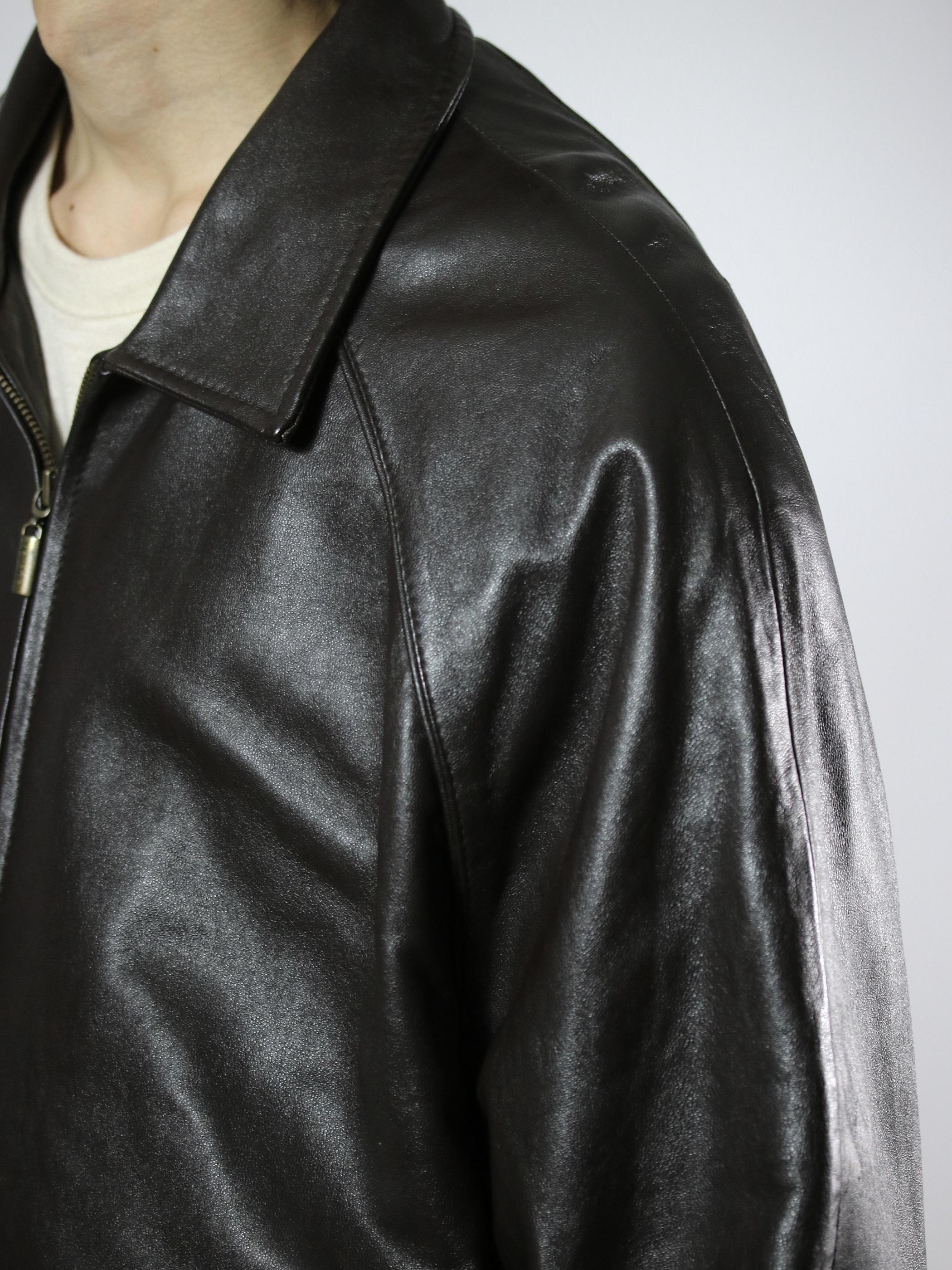 COLLEZIONE Zip Leather Jacket