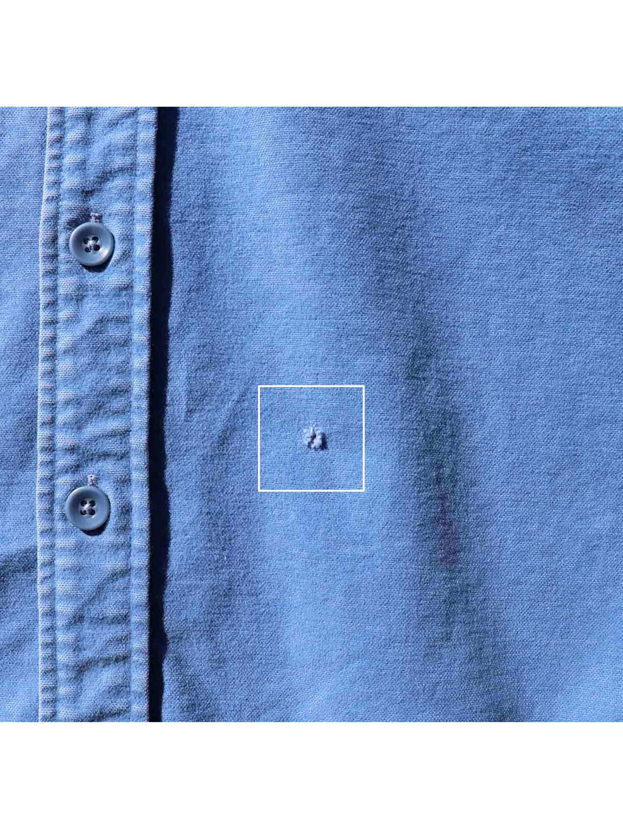 80's L.L. BEAN サックス シャモアクロスシャツ [16-1/2]