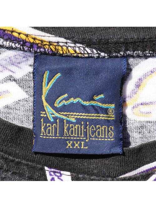 90's KARL KANI JEANS 総柄プリントTシャツ [XXL]