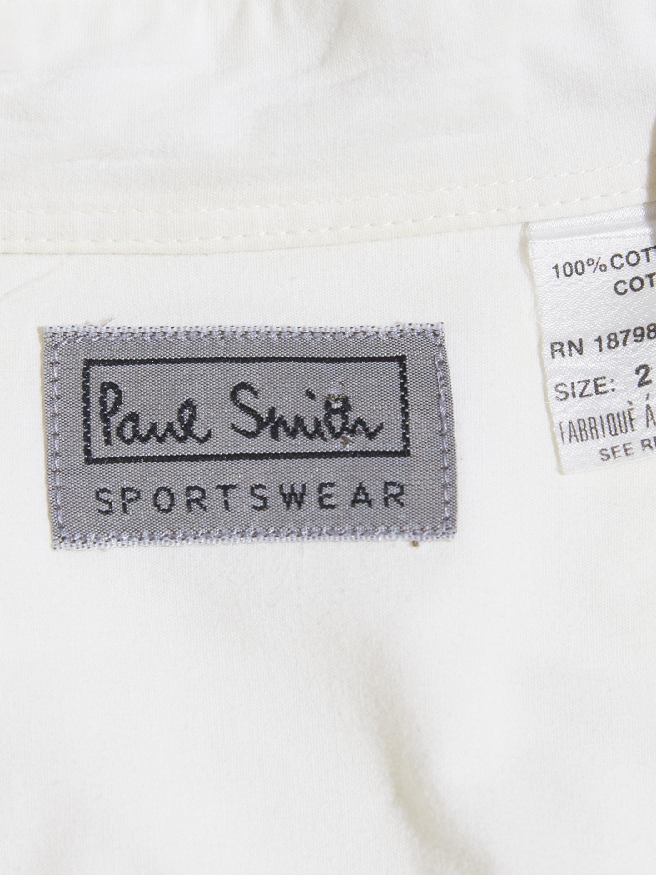"2000s ""Paul Smith"" cotton dress shirt -WHITE-"