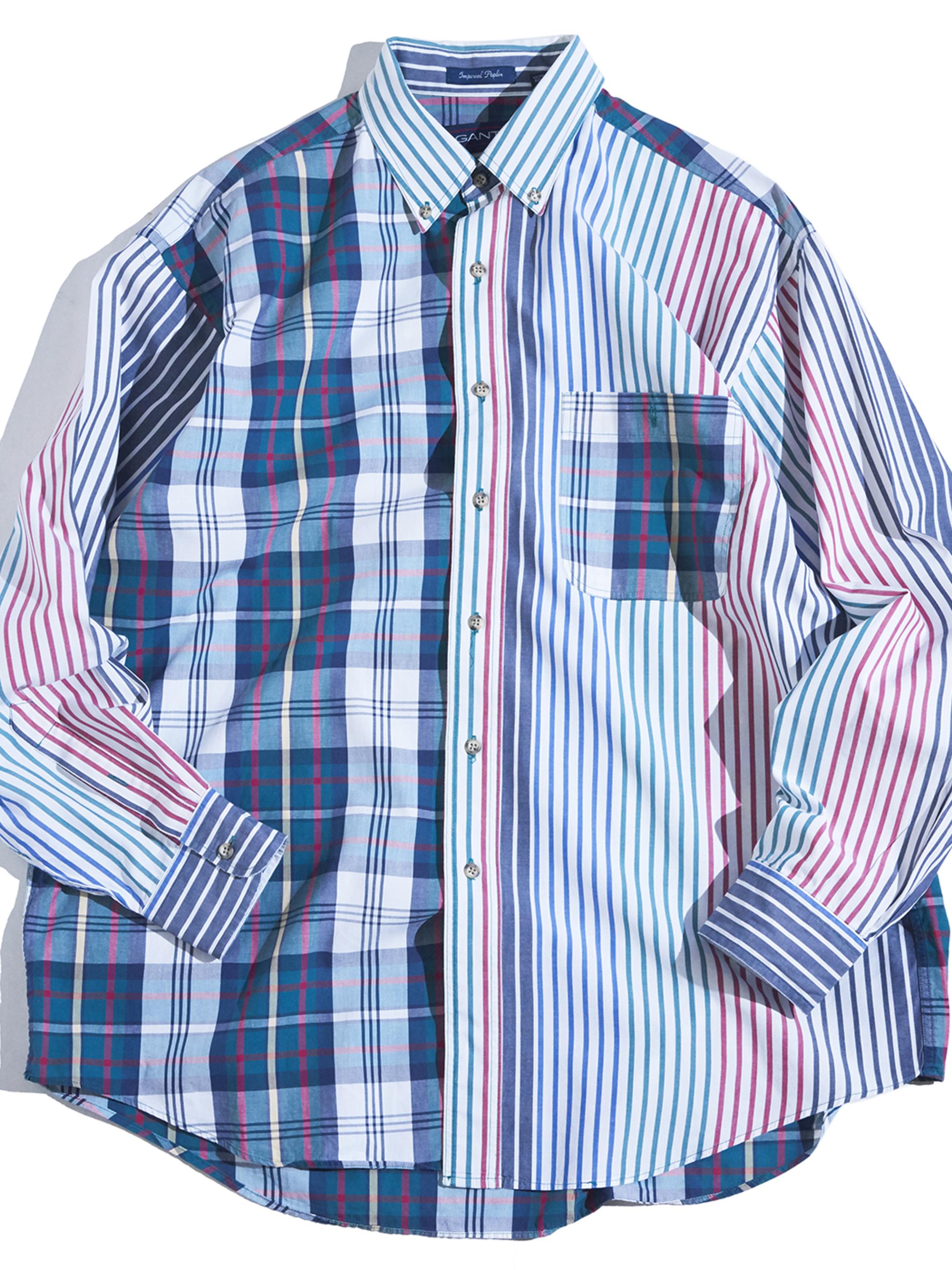 "1990s ""GANT"" cotton crazy pattern shirt -CRAZY-"