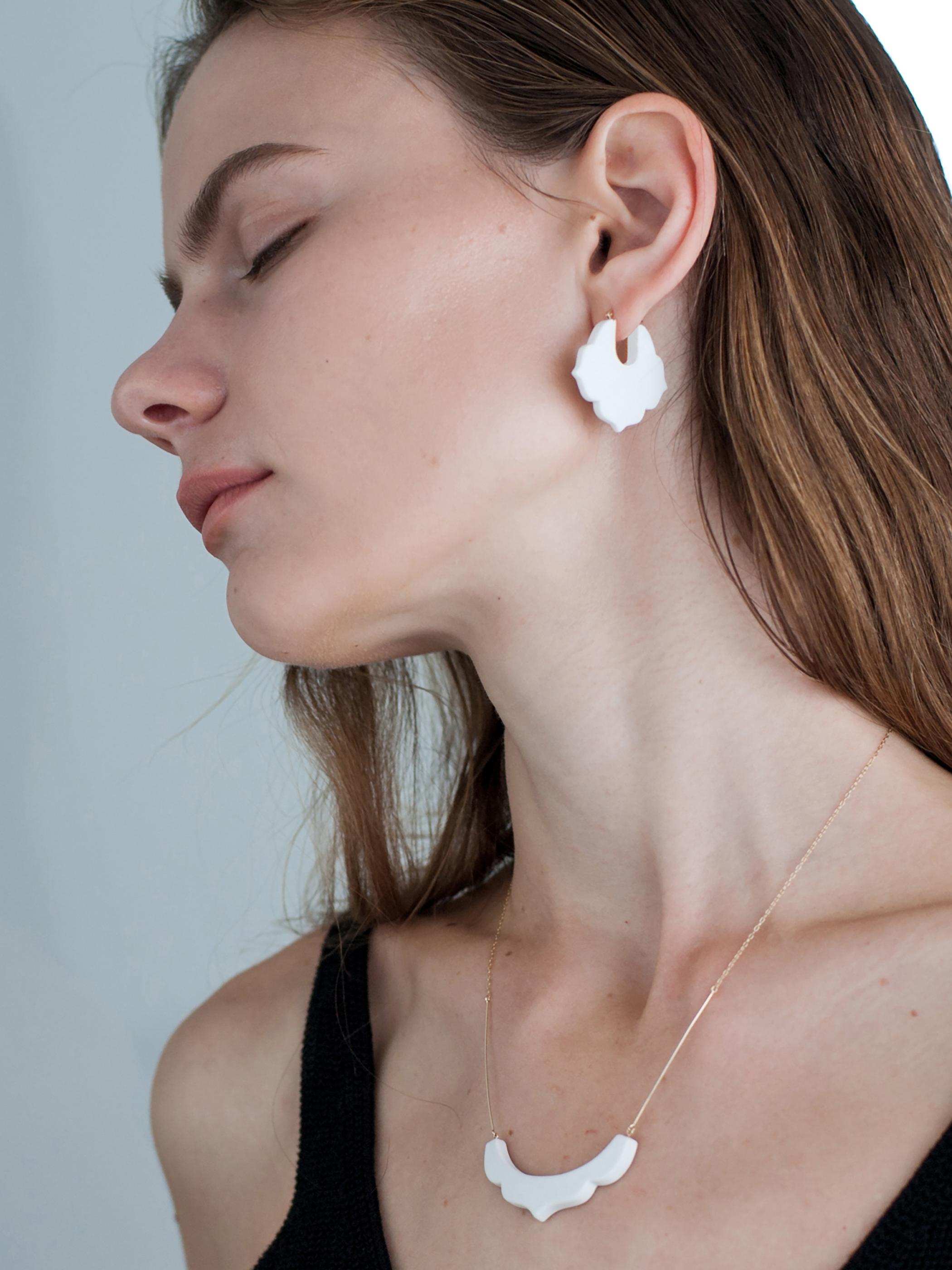 01 桔梗/Kikyou Earrings - White