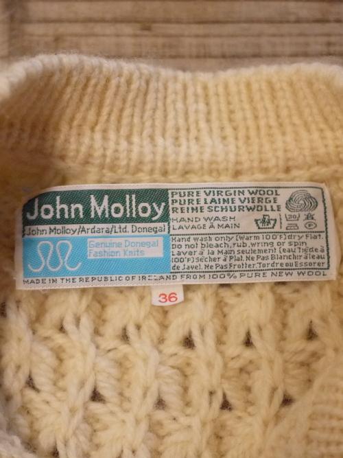 John Molloy Fisherman knit cardigan Size36