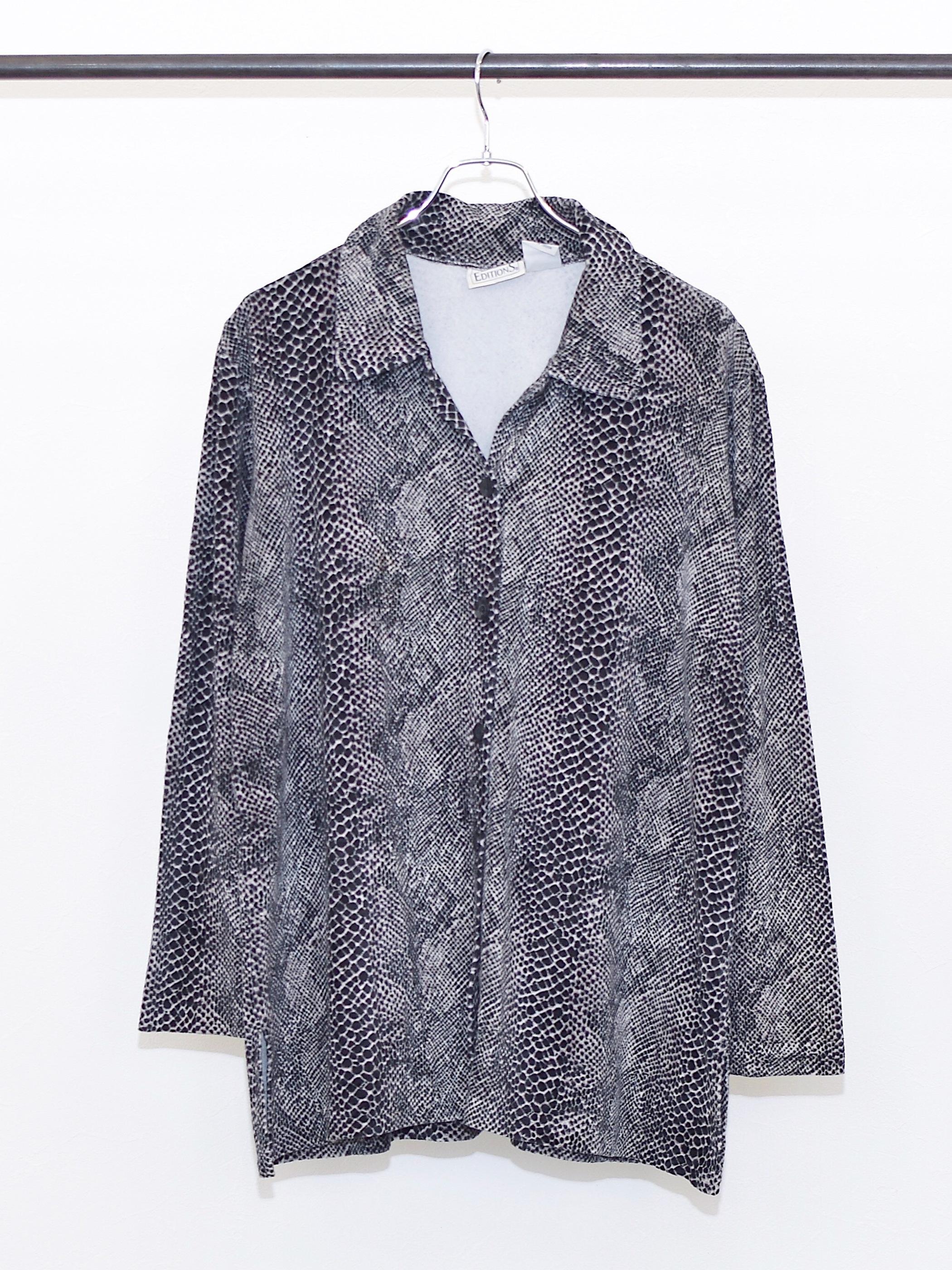 Vintage Snake Velvet Shirt