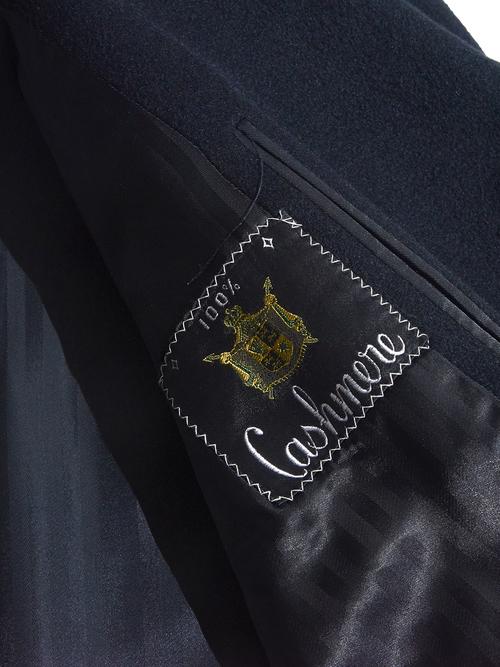 "1960s ""Raus Atkims"" cashmere chesterfield coat -BLACK-"