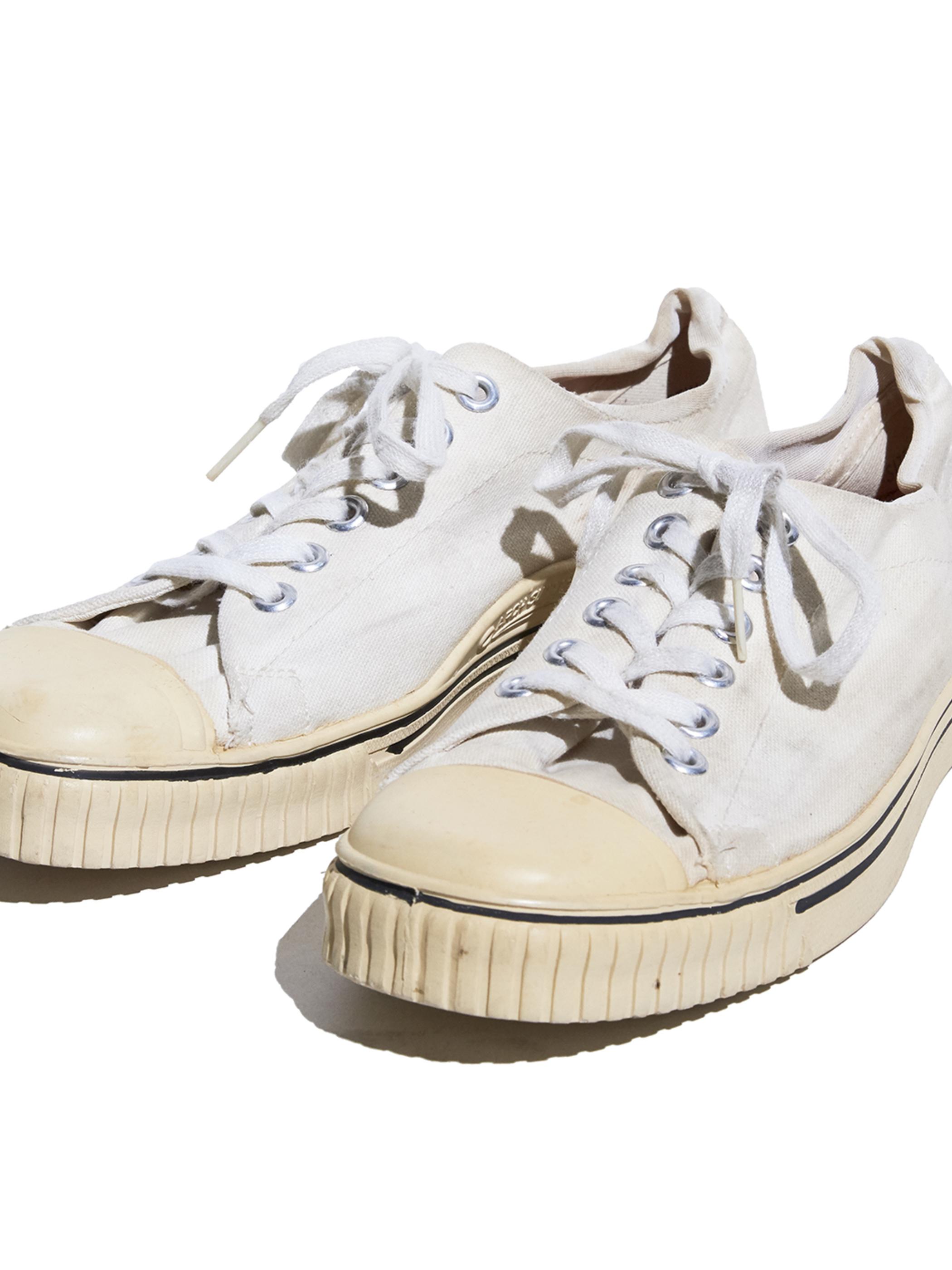 "1970s ""SEARS"" canvas sneaker -WHITE-"