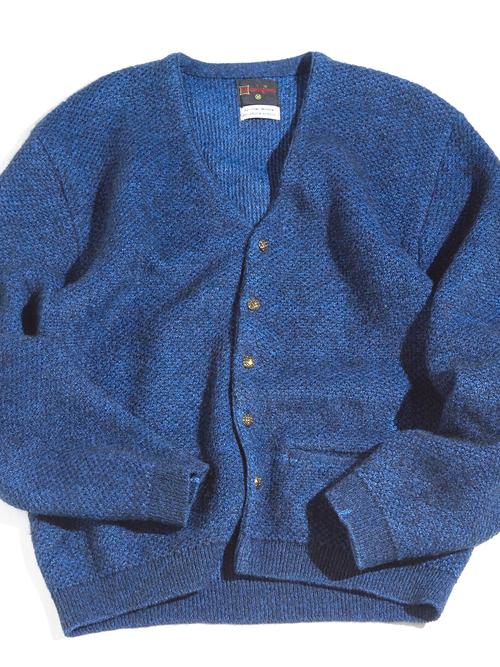 """1970s """"Munsingwear"""" mohair knit cardigan -BLUE-"""