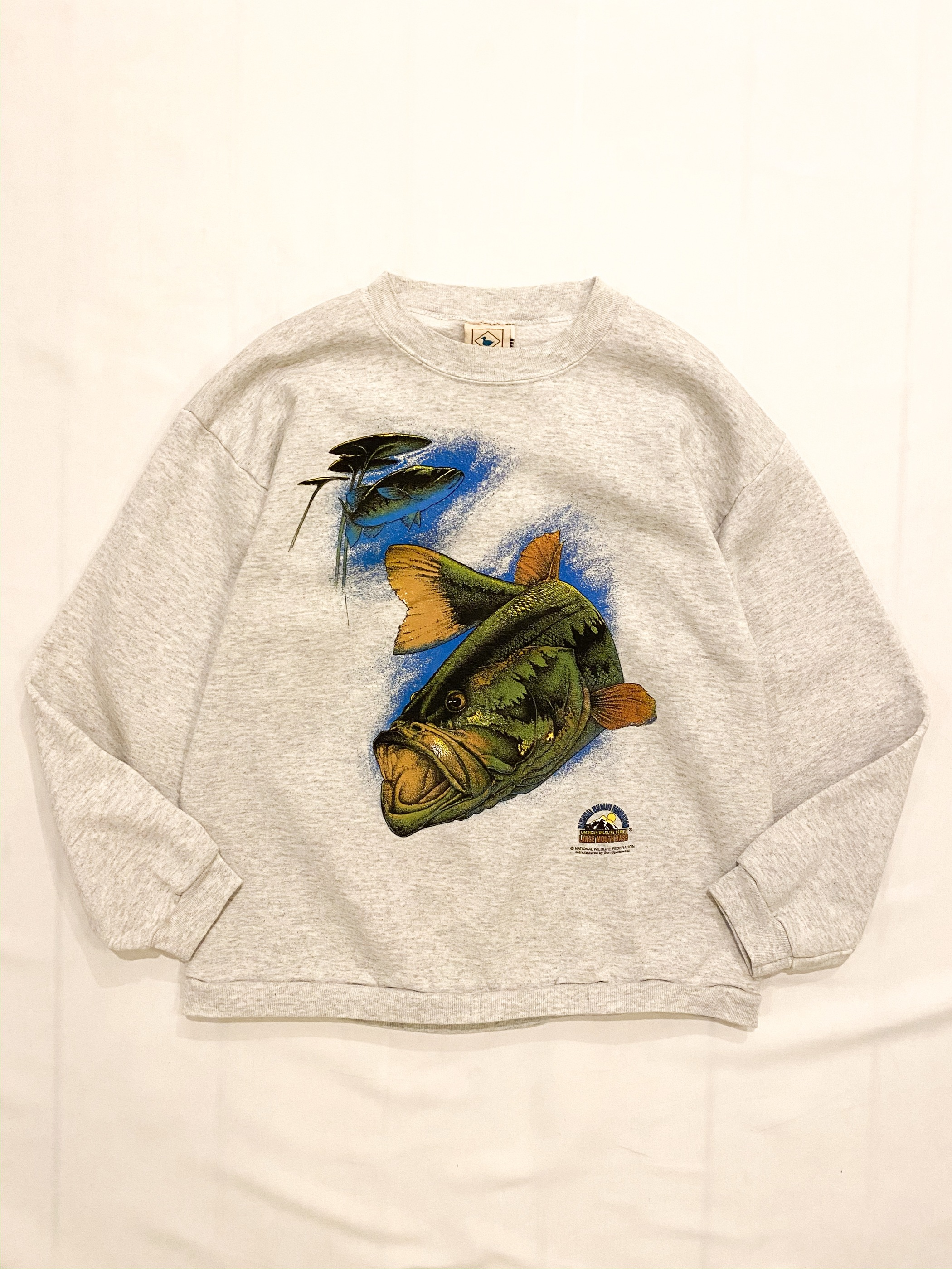 "90's ""BASS"" print sweat"