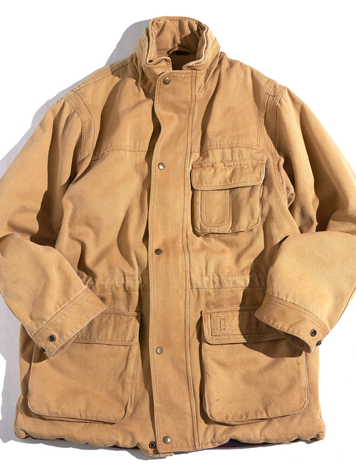"1980s ""Abercrombie & Fitch"" duck half coat -BROWN-"