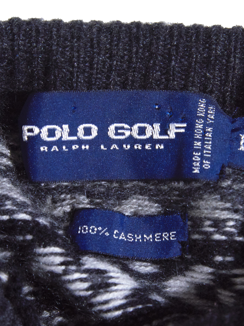 """1990s """"POLO GOLF"""" turtle neck cashmere knit -GRAY-"""