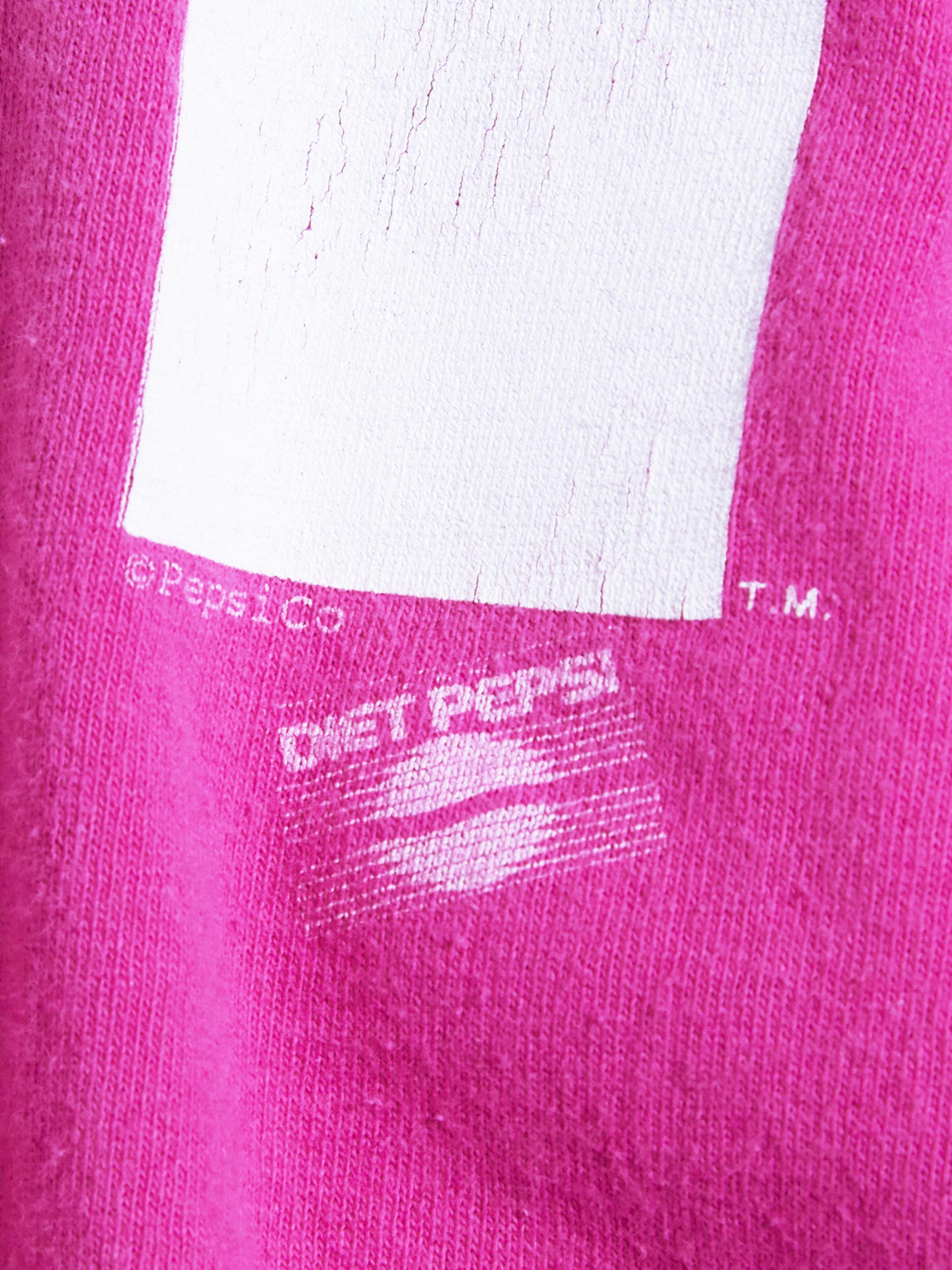 "1990s ""PEPSHI"" print tee -PINK-"