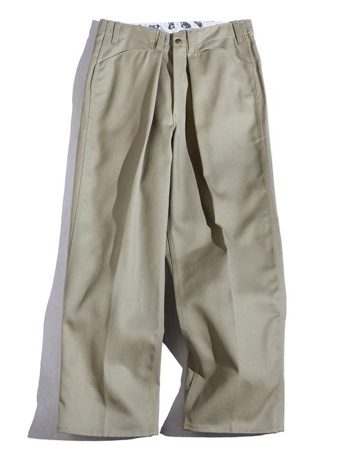 """1990s """"BEN DAVIS"""" custom tuck work pants -BEIGE-"""