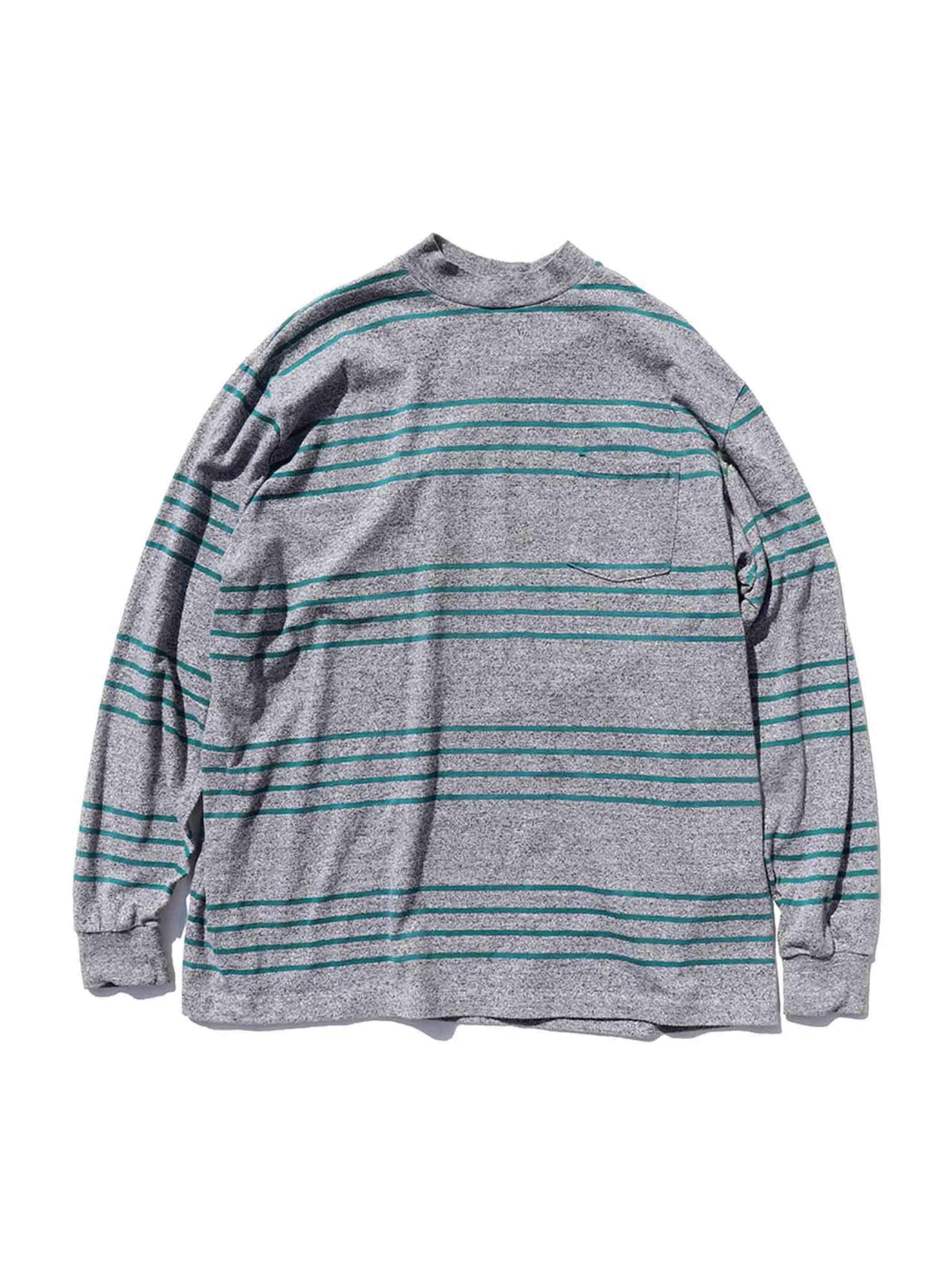80's OAKTON LIMITED Stripe L/S Pocket T-Shirt Made In U.S.A. [4XL]