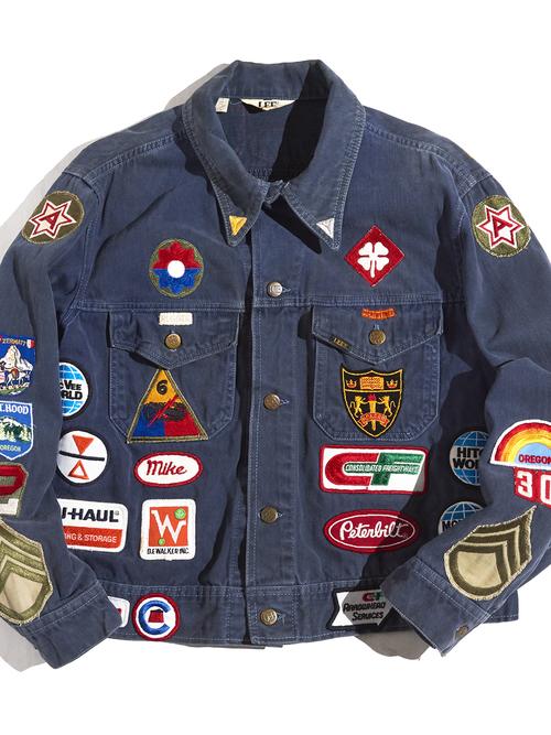 """1970s """"LEE"""" wappen custom jacket -NAVY-"""