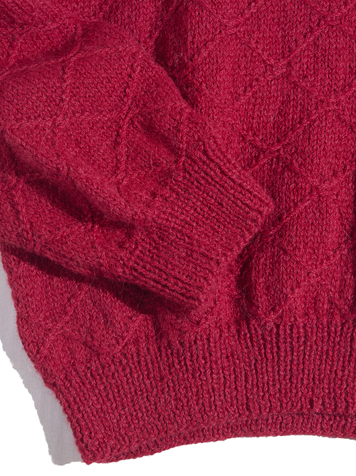 "1970s ""Karlling Needler"" wool hand knit -PINK-"