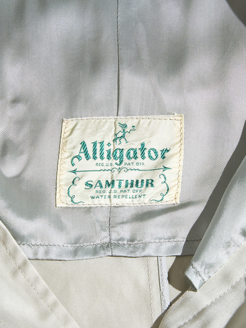 "1950s ""ALLIGATOR"" bal collar coat -BEIGE-"
