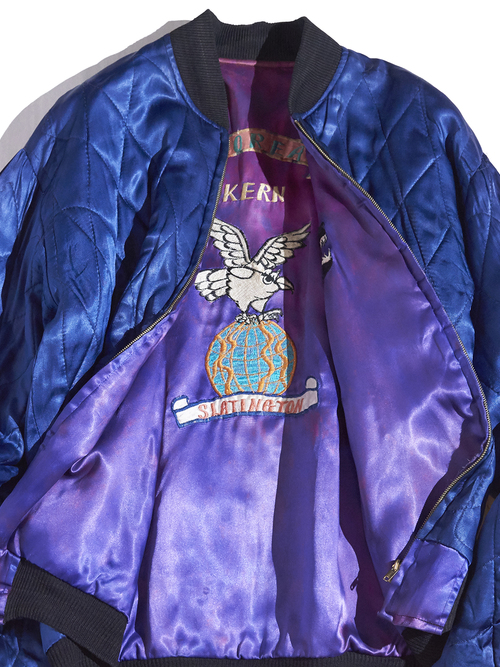 "1970s ""unknown"" KOREA souvenir jacket -PURPLE×NAVY-"