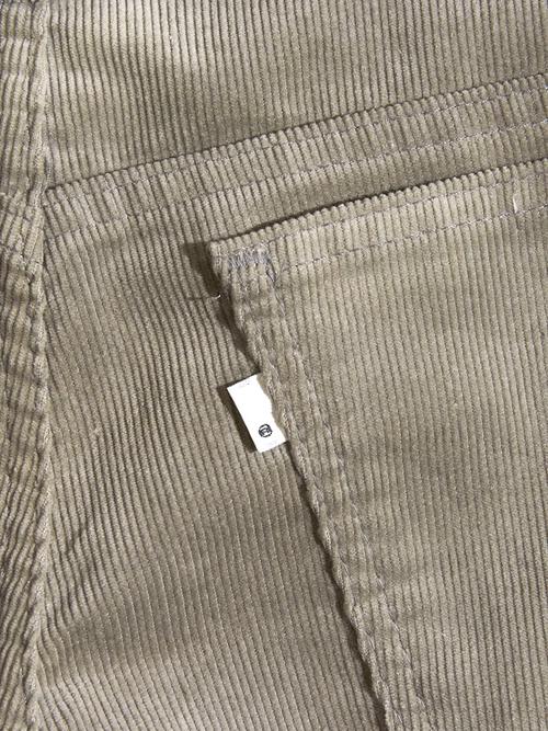 """1980s """"Levi's"""" 519 corduroy pants -GRAY-"""