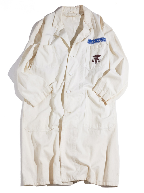 "1950s ""unknown"" cotton shop coat -WHITE- <SALE¥24000→¥19200>"