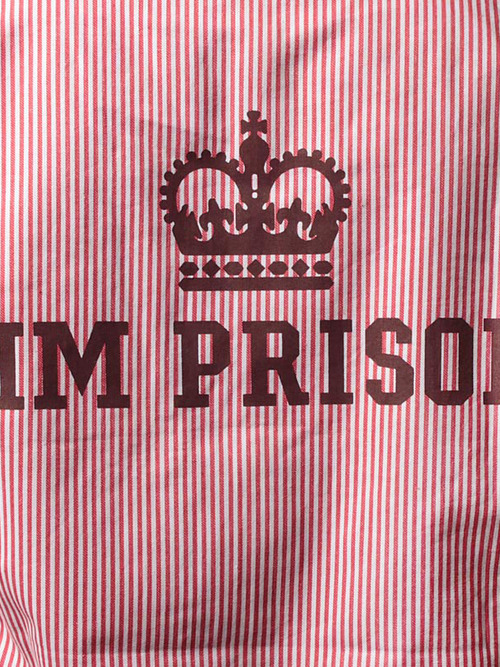 HM Prison / Longsleeve Stripe Backprint Shirt