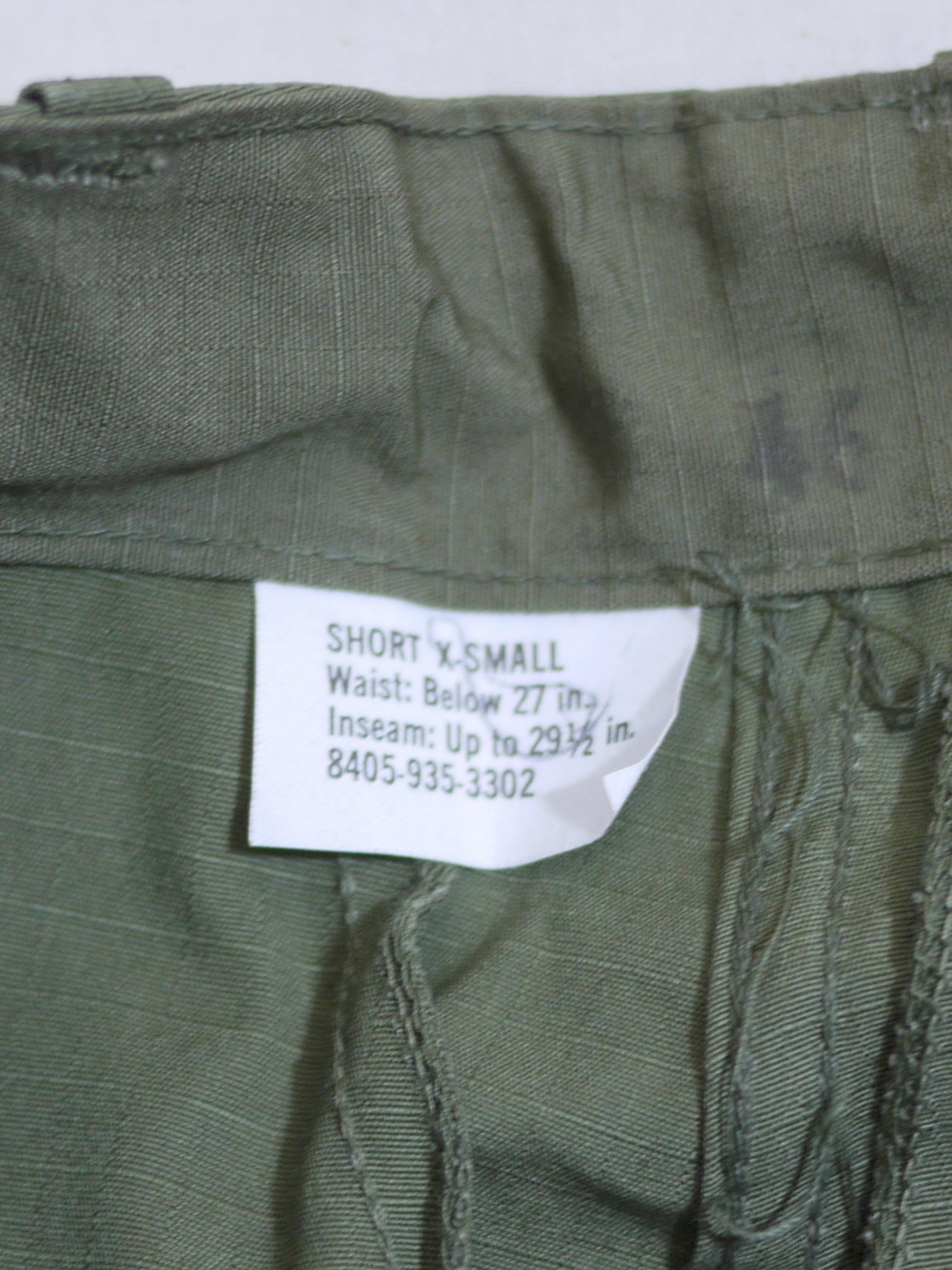 "U.S.Military 1960's OG107 Trousers SizeXS-S ""Dead stock"""