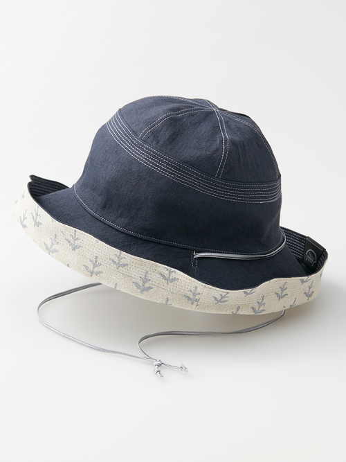 Reversible hat block p white omote 071 re