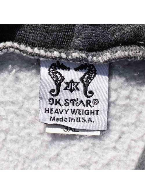 90's JK STAR USA製 チャコール杢 無地 プルオーバーパーカー [3XL]