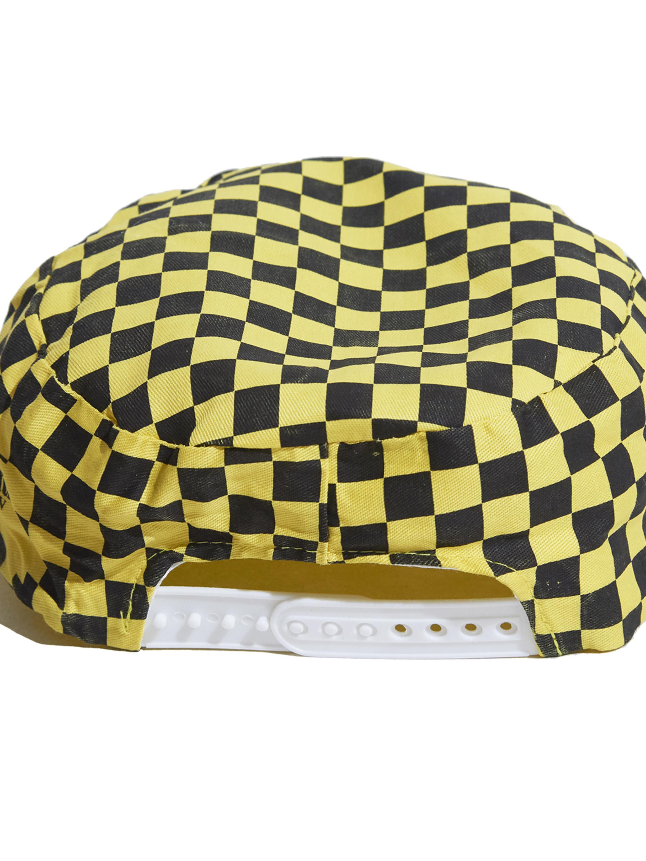 "1980s ""unknown"" checker cap -YELLOW-"