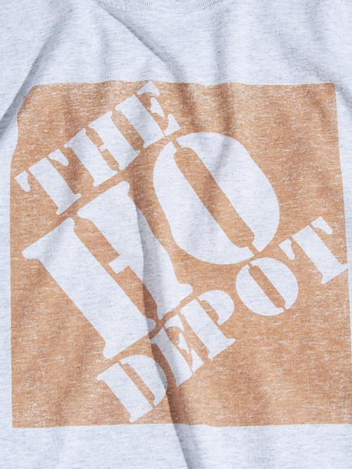 "2000s"" THE HO DEPOT"" print tee -GREY-"