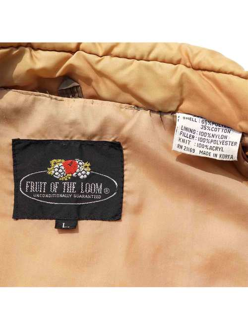 70's FRUIT OF THE LOOM 中綿ベスト [L]