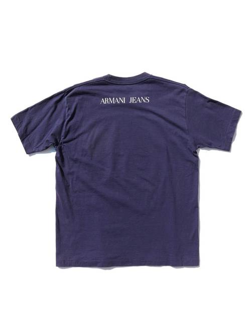 "90's ARMANI JEANS ""BLUE DENIM FAIR"" Tシャツ [About L]"