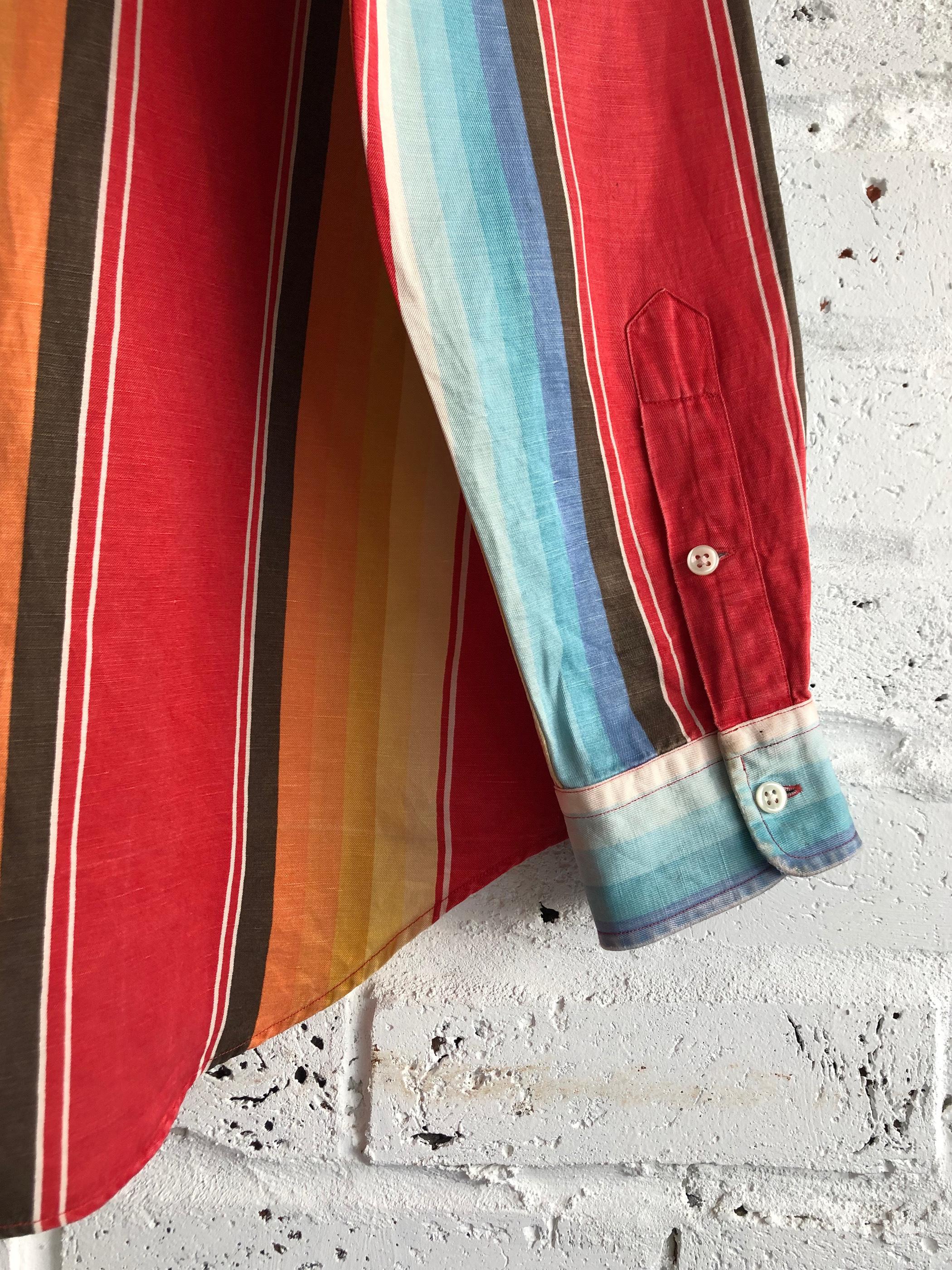 Vintage 90's Vintage 90's Polo Ralph Lauren silk&linen rainbow shirt