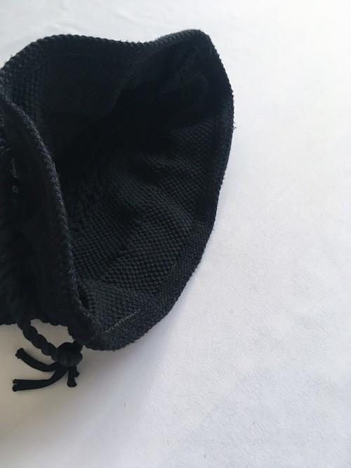 vintage drawstring woven bag