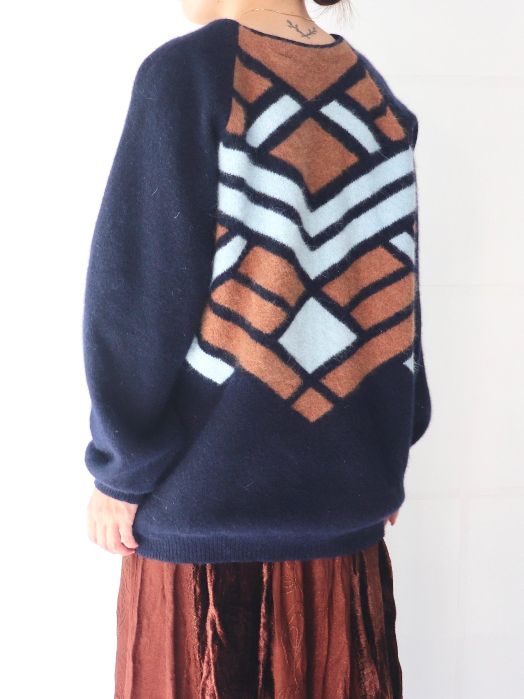 Euro pattern knit sweater