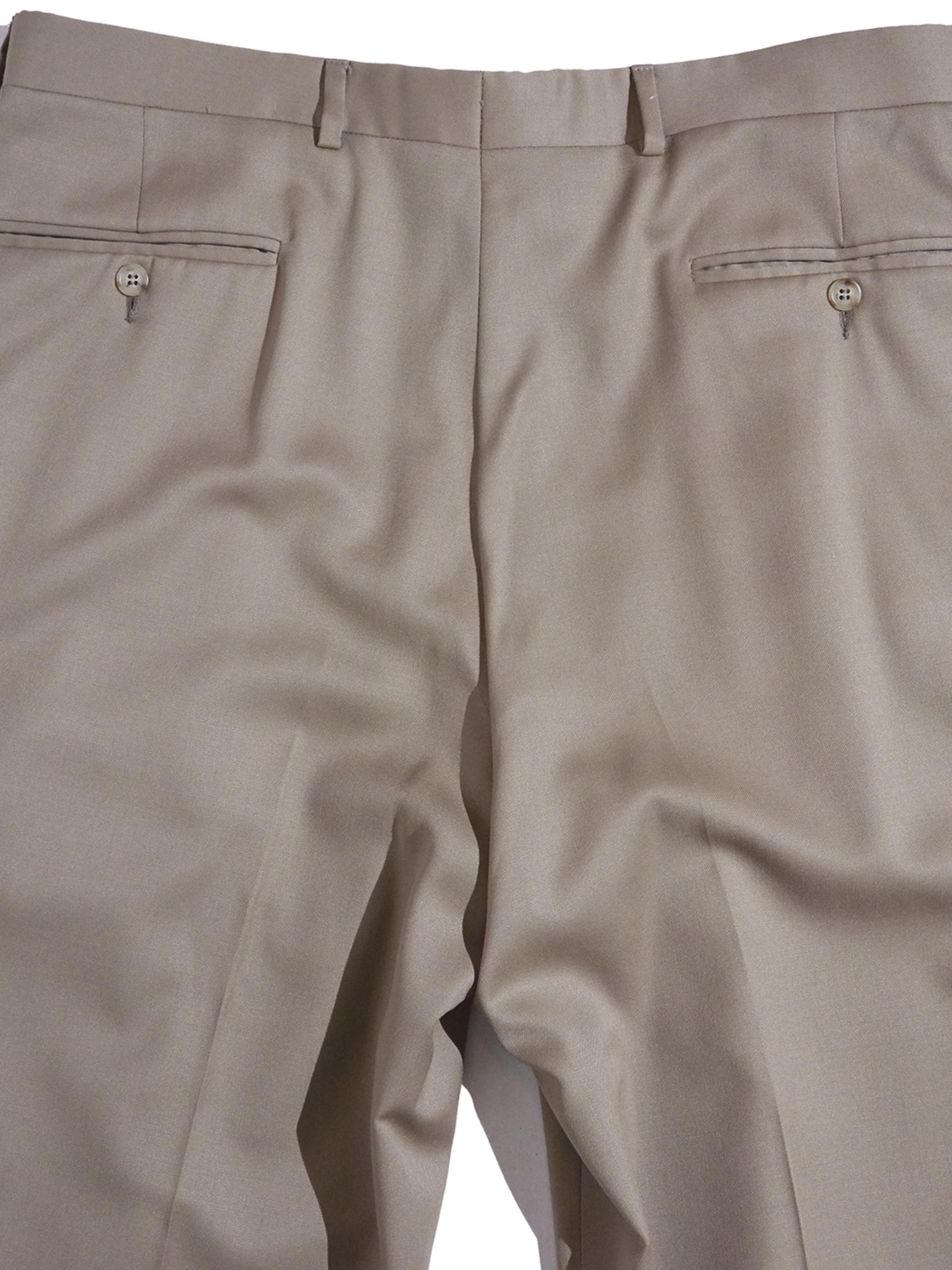 "1980s ""unknown"" 2tuck slacks -BEIGE-"