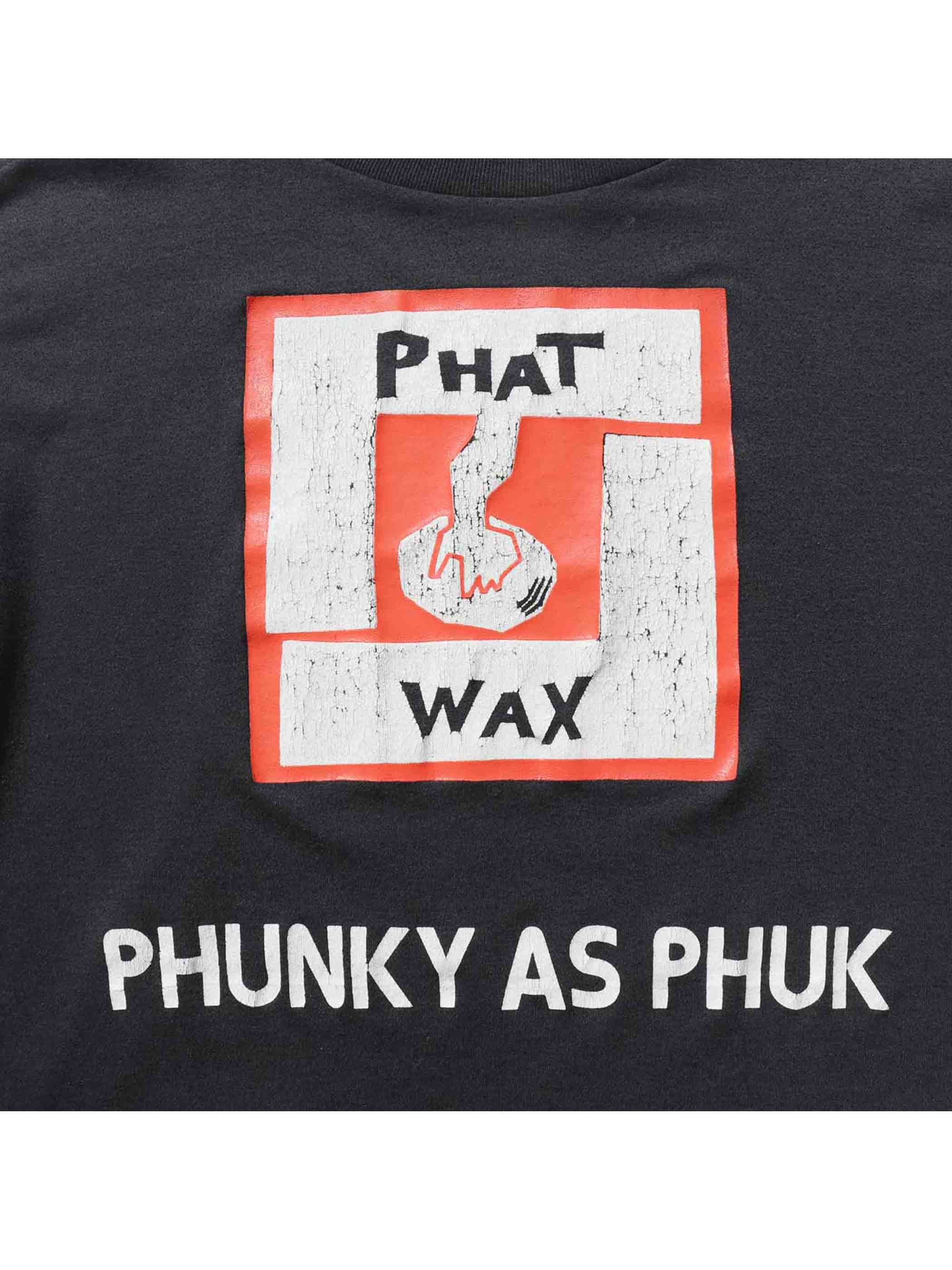 """90's PHAT WAX """"PHUNKY AS PHUK"""" L/S T-Shirt [About M]"""