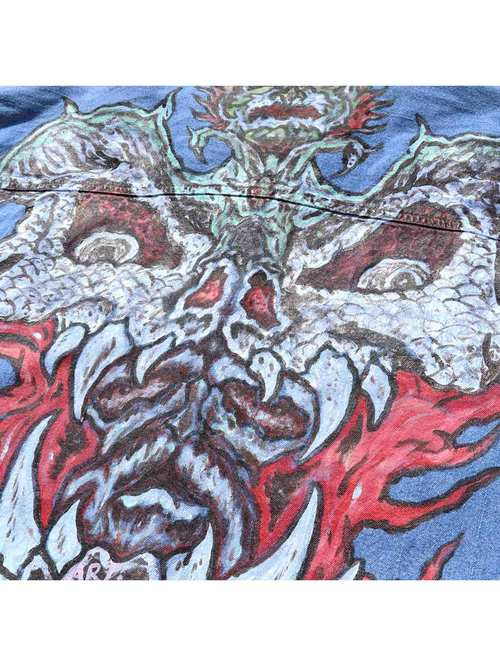 90's ANDREWS BLUES ハンドペイント デニムシャツ [20]