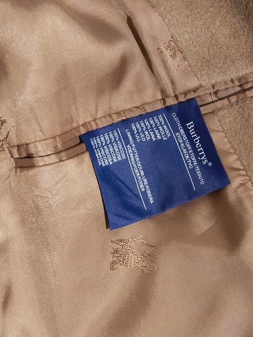 "1980s ""Burberrys"" wool raglan coat -BROWN-"