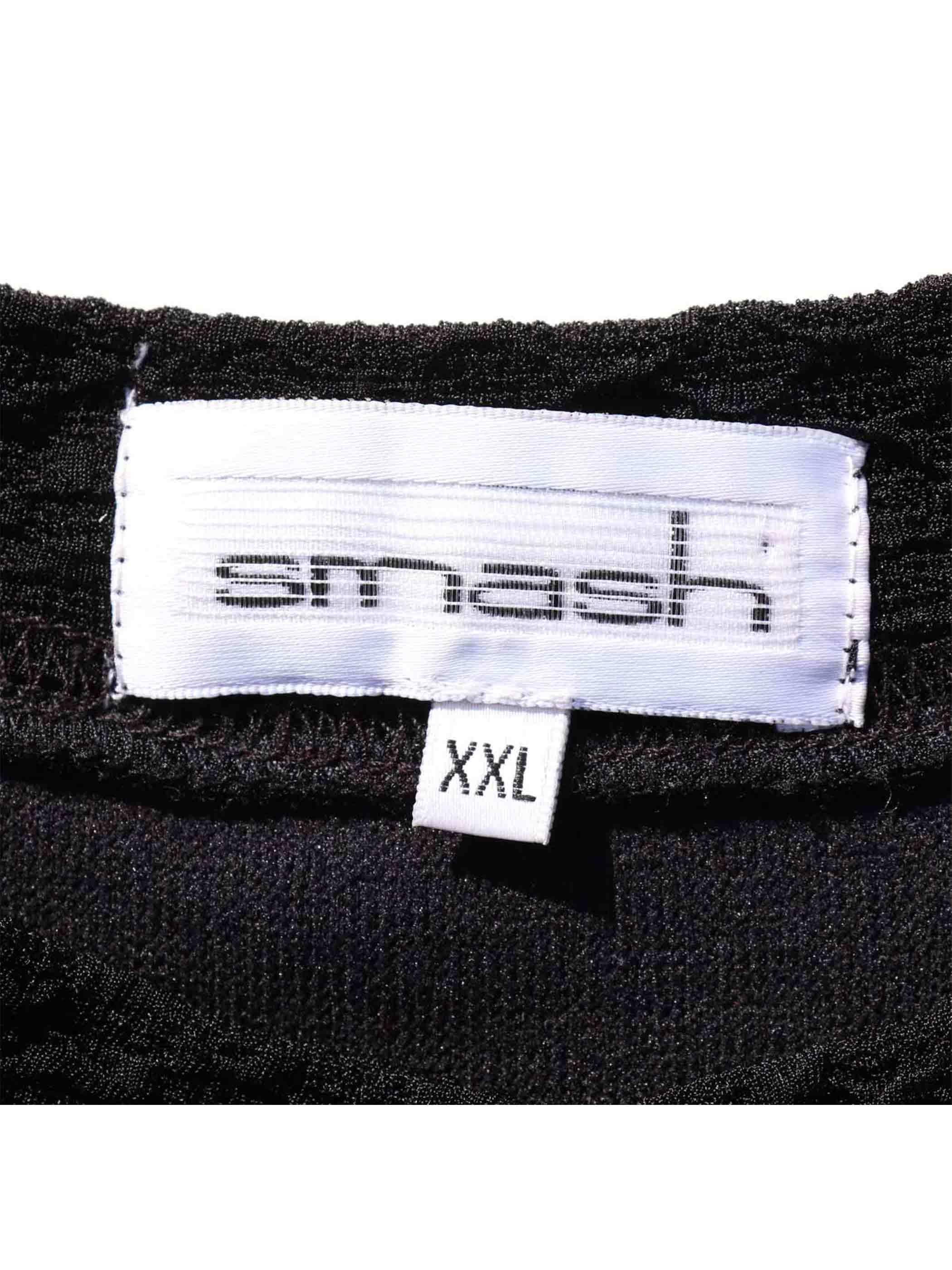 80's~ SMASH USA製 ポリエステルクレープ 無地Tシャツ [XXL]