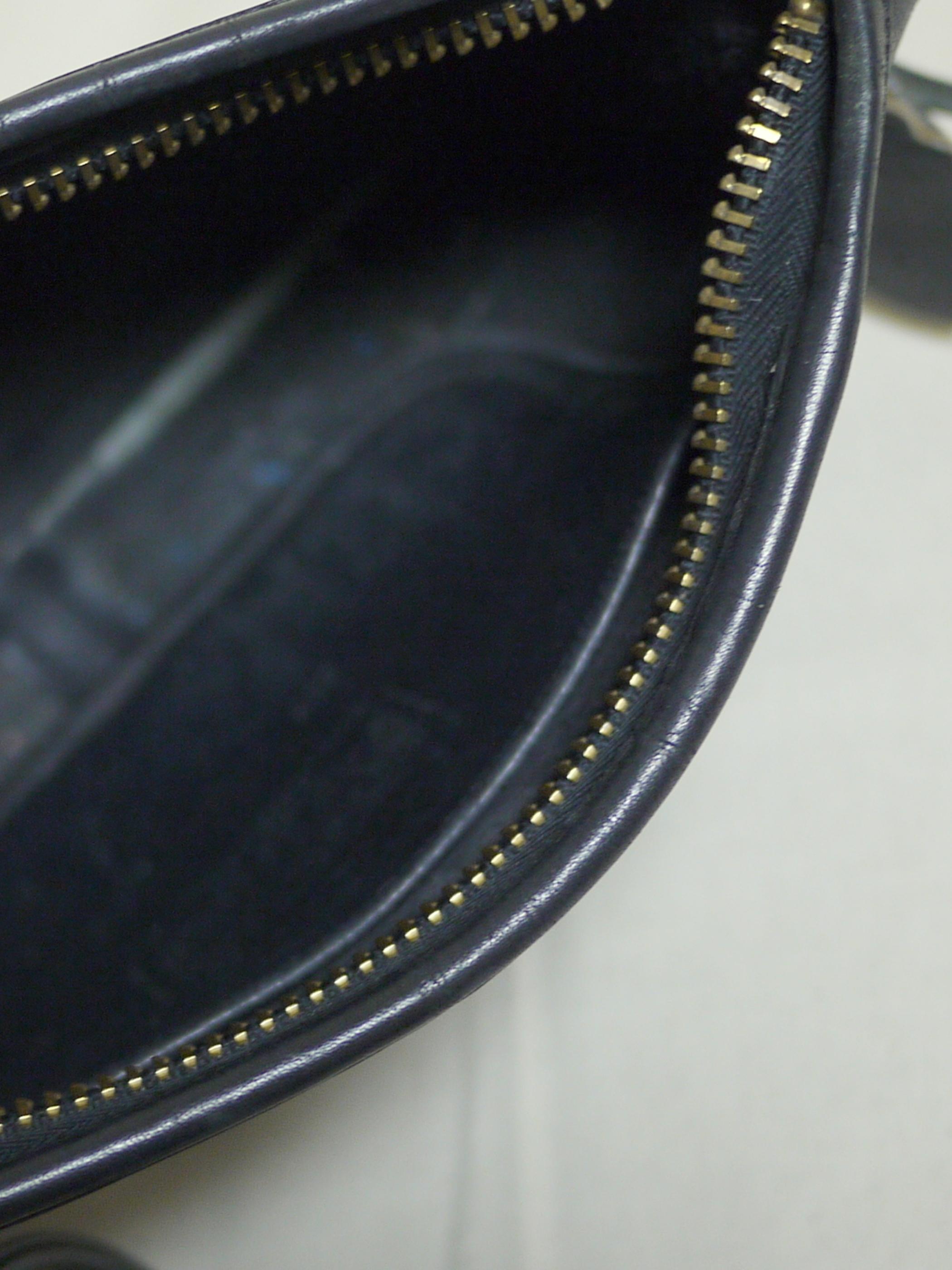 """Old COACH Leather Shoulder Bag """"Black"""" #3"""