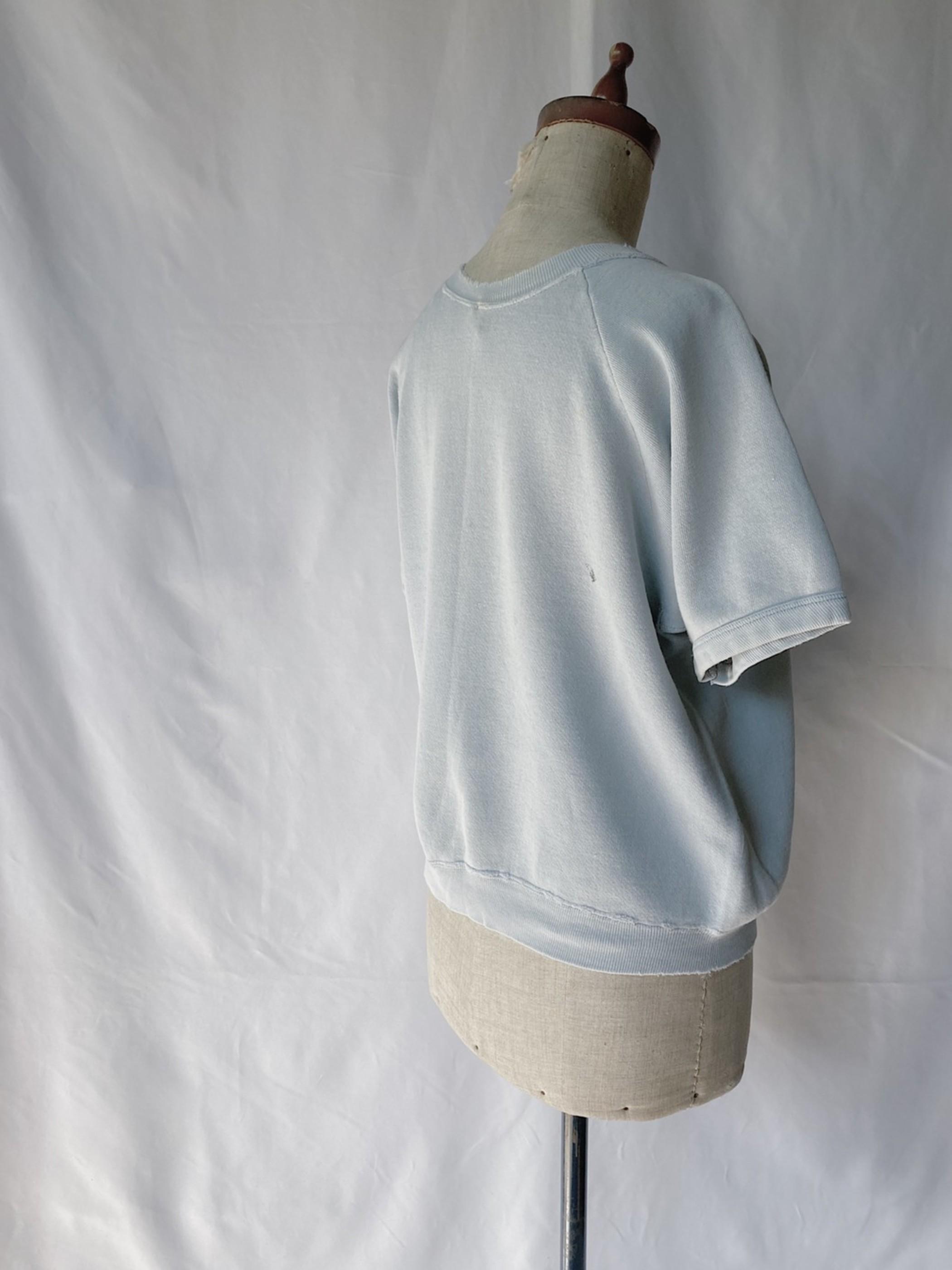 vintage short sleeve sweat shirt (light blue)